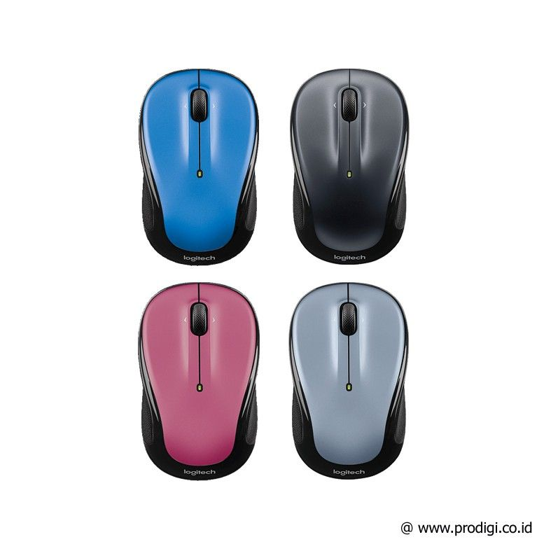 Logitech Wireless Mouse M325 - Dark Silver / Light Silver / Peacock Blue / Dusty Rose